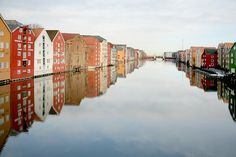 Bakklandet Nidelven river in Trondheim, Norway. I'd love to go back to Norway...