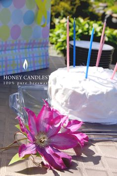 The perfect beeswax candles for your gender reveal party! Blue Cakes, Beeswax Candles, Reveal Parties, Gender Reveal, Valentine Day Gifts, Pink Blue, New Baby Products, Gift Wrapping, Joy