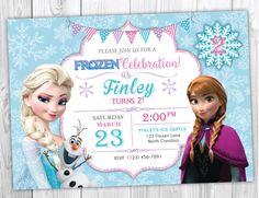 Frozen Birthday Invitation Printable, Frozen Birthday Party Invites, Elsa and Anna Birthday, Olaf Birthday by YourMainEventPrints on Etsy https://www.etsy.com/listing/221598878/frozen-birthday-invitation-printable