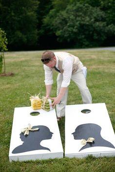 outside wedding - games for the reception Summer Wedding, Diy Wedding, Wedding Events, Dream Wedding, Wedding Day, Wedding Photos, Trendy Wedding, Yard Wedding, Wedding Backyard