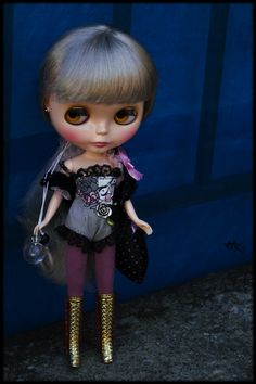"""12/"""" Neo Blythe Doll from Factory Golden Hair Nude Doll JSW47002"""