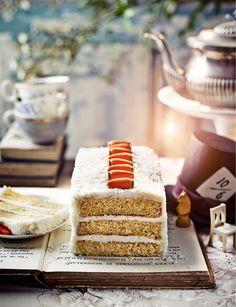 The White Rabbit coconut and carrot cake - a gorgeous Alice in Wonderland-inspired cake