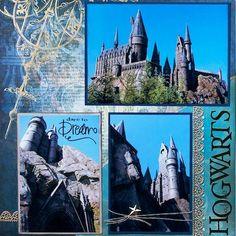Harry Potter - Hogwarts, Universal Studios, Florida - LEFT SIDE - Scrapbook.com