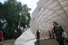 Second and third year architecture students at the Architectural Association school in London have completed this year's AA Summer Pavilion, called the Swoosh Pavilion. The structure is located outside the AA in Bedford Square and coincides with the London Festival of Architecture, which runs until this weekend. In what is turning out to be something More