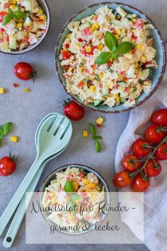 Pasta salad for children - healthy and delicious - Kochen - Nudelsalat Pasta Salad For Kids, Salads For Kids, Baby Food Recipes, Dinner Recipes, Low Fat Cookies, Home Meals, Different Vegetables, Proper Nutrition, Recipe For Mom