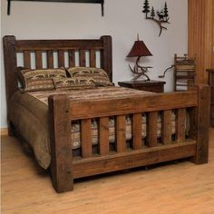 Old Sawmill Timber Frame Bed #WoodworkingBench