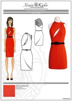 Red jersey dress