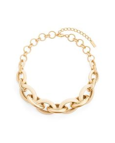 A nice chain necklace good for fancying up some skinny jeans and a sweater or.casualing down a short sparkle poof dress