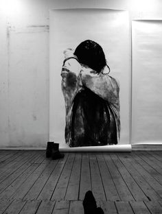 Large-scale charcoal drawings by Anouk Griffioen.