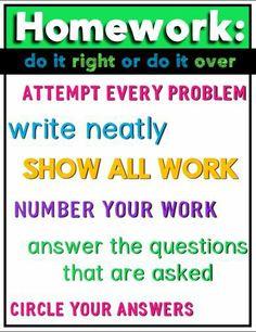 Homework: do it righ