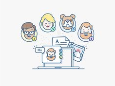 Video chat illustration - Atlassian by Andrew McKay