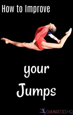 How to Improve your gymnastics jumps by improving your body position and how high you can jump. A 10 Minute Workout to help get you started! Gymnastics Stretches, Gymnastics Tricks, Gymnastics Flexibility, Gymnastics Skills, Gymnastics Coaching, Gymnastics Training, Gymnastics Posters, Dance Training, Gymnastics Workout