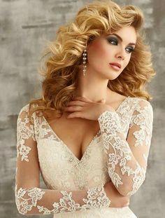 White Lace Bridal Gowns Wedding Dresses Custom Size 4 6 8 10 12 14 16 18 Ivory for sale online Bridal Gowns, Wedding Dresses, Glamour, Stunning Women, Beautiful Eyes, Pretty Face, Pretty Woman, Beauty Women, Hair Beauty