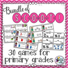 Scoot!  30 games for ELA, math and science