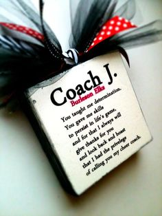 Coach Cheer/Dance Block by DesignsBySyds on Etsy these are really awesome! Cheer Coach Gifts, Cheer Gifts, Gifts For Cheer Coaches, Swim Coach Gifts, Coach Presents, All Star Cheer, Cheer Mom, Cheer Stuff, Cheerleading Gifts