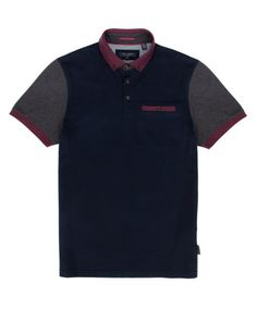 Block color polo - Navy | Tops & T-Shirts | Ted Baker