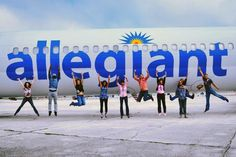 Our east coast flight attendants jumping for joy (literally)!