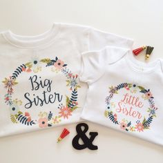 Bundle Long Sleeve Big Sister Little Sister by TrendyCactus