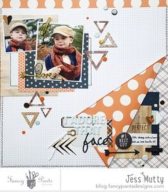 I Adore That Face layout by Jess Mutty - Fancy Pants Designs