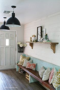 How to install shiplap: peel and stick Stikwood process. Love this easy real barnwood wall treatment. Such an easy farmhouse wall decor solution. Design Loft, House Design, Design Design, Peel And Stick Shiplap, Stick On Wood Wall, Installing Shiplap, Design Apartment, Farmhouse Wall Decor, Modern Farmhouse