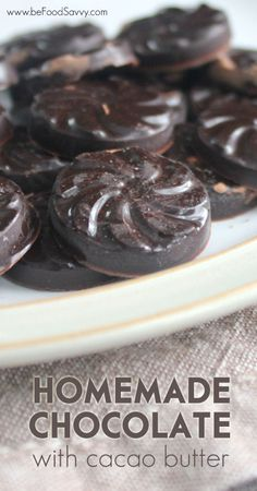 Homemade Chocolate- different flavours & options to choose from | www.beFoodSavvy.com