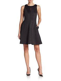 línea vestido un Malandrino Tonal Black Little Catherine Check Manny Perfect de Seamed F8wWHwqCcp