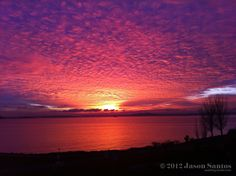 Particularly rad sunset over Elliott Bay in Seattle