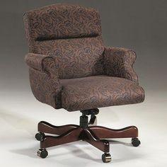 Triune Business Furniture Executive Chair Upholstery Color: Black, Frame Finish: Mahogany, Tilt Mechanism: Tilt Lock Not Included