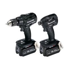 Panasonic EYC217 LJ2G31 18v Combi Drill + Impact Driver Kit (5.0Ah)