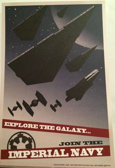 Propaganda Posters From The Dawn Of Star Wars' Galactic Empire Star Wars Poster, Poster On, Han Solo Shot First, Posters Geek, Evil Empire, Star Wars Concept Art, The Force Is Strong, Star Destroyer, Poster Pictures