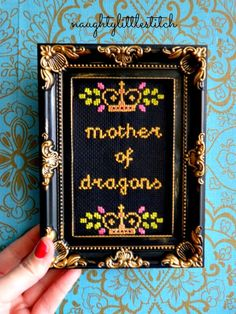 Made To Order  Mother of dragons  game of by NaughtyLittleStitch, €15.95