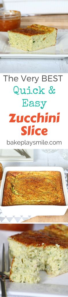 My mum taught me this Zucchini Slice recipe and I've been making it for years…