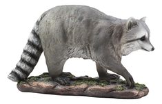 Night Bandit Large Snooping Raccoon Statue Wildlife Taxidermy Decor for sale online Taxidermy Decor, Life Size Statues, Wildlife Decor, Outdoor Statues, Resin Material, Rodents, Whimsical, Lion Sculpture, Hand Painted