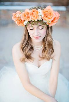 wedding hair flower crown - Google 検索
