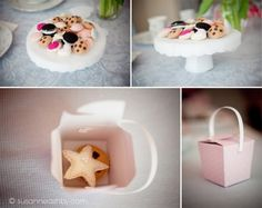 felt cake plate and cookies and a box to store them in