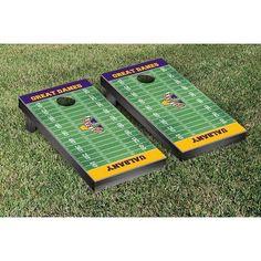 Victory Tailgate NCAA Football Field Version Cornhole Game Set NCAA Team: Bryant Bulldogs
