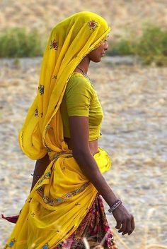 India: Women & Colours YELLOW    by https://www.facebook.com/pages/Shanti-ayurvedic-beach-Resort/111984498843384