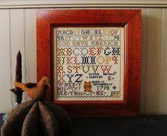 Samplers and Santas: Eunice's sampler frame
