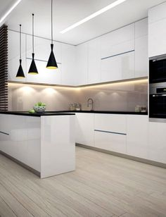 dream home Interior design ideas for a luxury kitchen decor. On this kitchen, you can see extraordinary furniture design pieces Kitchen Room Design, Luxury Kitchen Design, Kitchen Cabinet Design, Luxury Kitchens, Home Decor Kitchen, Interior Design Kitchen, Home Design, Kitchen Ideas, Modern Kitchens