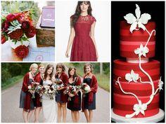 Black bridesmaid dress with red dupatta