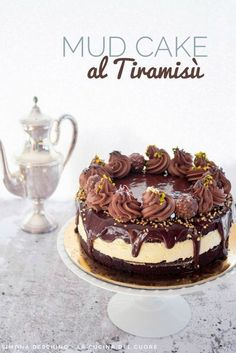 Mud cake al tiramisù Chocolate Cake Designs, Chocolate Recipes, Cheesecake Recipes, Dessert Recipes, Mississippi Mud Pie, Drop Cake, Alcoholic Desserts, Nutella Cake, Dessert Tray