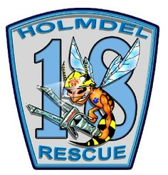 Holmdel Rescue 18 bumblebee fire patch. I believe the state is New Jersey #bee #fire #patch #holmdel