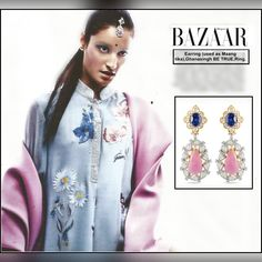 Our multi-hued gemstone earring has made it to the must-have list in the latest issue of #HarpersBazaarIndia.