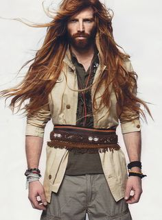 Tumblr Men with Long Hair | fashion red hair Redhead Freckles beard Johnny Harrington ginger men ...