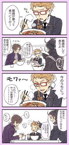 遠征帰りにラーメン食べる黒田組 へしが笑ってくれるからねしょうがない!