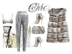 """""""Chic She"""" by naughty-1 ❤ liked on Polyvore featuring Vionnet, Jimmy Choo, Gucci, RetroSuperFuture and Calypso St. Barth"""