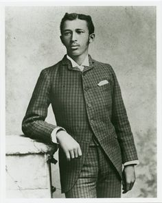 W.E.B DuBois as a young man.