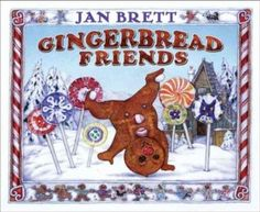 """In this delicious sequel to """"Gingerbread Baby,"""" the confident and cocky character is back looking for friends, in an adventure he'll never forget. Brett's irresistible images are based on the tiny village bakeries and snowy countryside of Switzerland."""