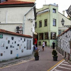 iteratu street decorated by artists, sculptors and other creators of art.  Vilnius/Lithuania