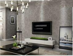 Quarto sala de TV luz fundo marrom nova moderna painéis de parede decorativos no geométrica wallpaper rolo #41254 em Papéis de parede de Melhorias na casa no AliExpress.com | Alibaba Group